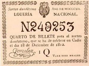 Loteria Nacional 1812
